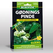 Hornum gødningspinde - grønne planter 30 stk.